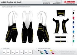 Yellow bib short